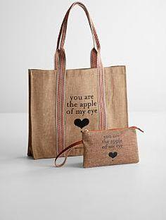 apple & bee eco shopping bag + wristlet