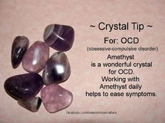 for OCD, Amethyst Healing Crystal helps with Transitions, Spiritual, Physical and Emotional Balance, Grounding, Meditation, Calming, Loss, Grief