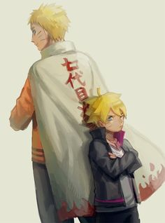 "Before new scan, ""Father and son insinuate Minato and Naruto ... But now, it's Naruto and Boruto. I'm sure, Minato and Kushina are happy :) #Sad feeling"