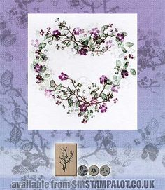handmade card from Rubber Stamp Tapestry - Cherry Blossoms . Card Making Inspiration, Making Ideas, Making Tools, Cardio Cards, Fabric Stamping, Rubber Stamping, Art Impressions Stamps, Some Cards, Custom Stamps