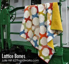 Lattice Bones QuiltTutorial on the Moda Bake Shop.  Potluck by American Jane #modafabric http://www.modabakeshop.com/2013/10/lattice-bones-quilt.html