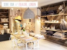 Store Tour: Folklore, London – Bright.Bazaar I love the boarded wall
