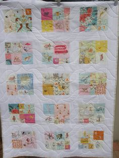 Heather Ross quilt A great way to use up my random cute scraps!