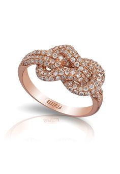 Rose Gold Rings For Women Diamond Rose Gold Diamond Ring, Diamond Knot, Fashion Rings, Fashion Jewelry, Sparkly Jewelry, Ring Set, Wedding Rings For Women, Jewelery, Gold Rings