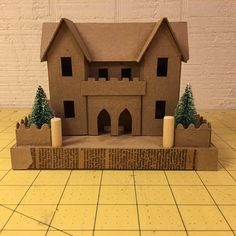 """View topic - Building the """"Embassy House"""". Christmas Houses, Christmas Ideas, Christmas Crafts, Gingerbread House Template, Gingerbread Houses, 3d Art Projects, School Projects, Small House Diy, Diy Crib"""
