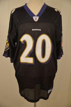 Reebok Baltimore Ravens NFL Replica Jersey  20 Ed Reed Adult XXL Black   Reebok   203371b71