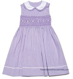 Lilac Gingham Seersucker Dress