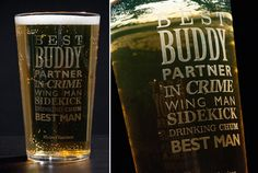 Personalised Pint Glass - Best Man - Image 1