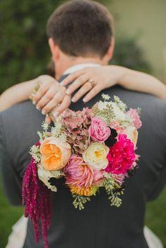 amaranthus pink bouquet shot by Whittaker Portraits #weddingbouquet