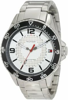 Tommy Hilfiger Men's 1790838 Sport Stainless Steel case and bracelet with white dial Watch Tommy Hilfiger. Save 35 Off!. $87.73. Durable mineral crystal. Quartz movement. Stainless steel bracelet. Black bezel. Stainless steel case