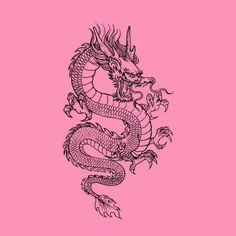 Tattoo Sketches, Tattoo Drawings, Body Art Tattoos, Small Tattoos, Small Dragon Tattoos, Japanese Dragon Tattoos, Spine Tattoos, Unique Tattoos, Leg Tattoos