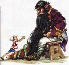 Pinnochio illustration by Libico Maraja (1912 – 1983, Italian)