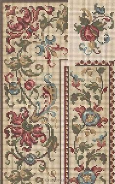 Beading _ Pattern - Motif / Earrings / Band ___ Square Sttich or Bead Loomwork ___ Cross Stitch Pillow, Just Cross Stitch, Cross Stitch Borders, Cross Stitch Samplers, Cross Stitch Flowers, Cross Stitch Charts, Cross Stitch Designs, Cross Stitching, Cross Stitch Patterns