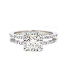 Irina Ferry Platinum Princess Cut Diamond Engagement Ring