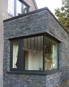 Nutshell Cottage Remodelling By Roger Meyer Architecture   Corner Glazed  Window With Black Slate Cladding. CladdingSlateExteriorCornerWhiteboard
