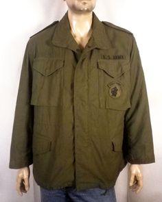 0b6eceae106e vtg 70s US Army post vietnam Field Jacket OG-107 airborne jungle expert M  short