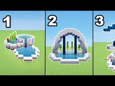 TUTO 3 FONTAINES MODERNES MINECRAFT !! - YouTube