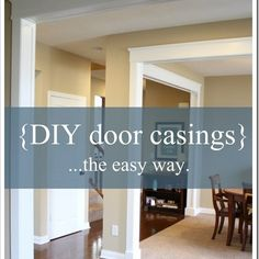 A great method to add door casings to un-trimmed doorways without messing with the drywall. And it looks fantastic!