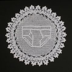 From male crocheter Nathan Vincent ... what a twist on filet crochet!