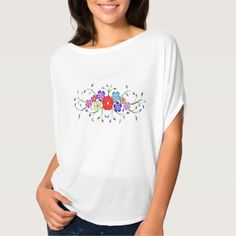 colorful flower bouquet T-Shirt -nature diy customize sprecial design