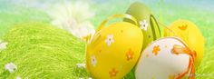 Easter – Colorful Decorated Easter Eggs on http://www.covermytimeline.com