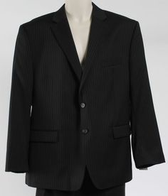 LAUREN RALPH LAUREN OUTLET PRICE MENS JACKET BLACK STRIPE BLACK BLAZER SZ 44 S #RALPHLAUREN #TwoButton