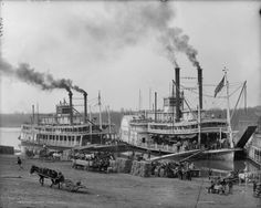 Steamboats--a familiar scene in Saint Charles, Missouri, during the 1860s time of THE QUILTED HEART omnibus. www.monahodgson.com