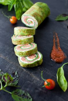 From Garden to Table - Spinach and Basil Smoked Salmon Roll at Cooking Melangery