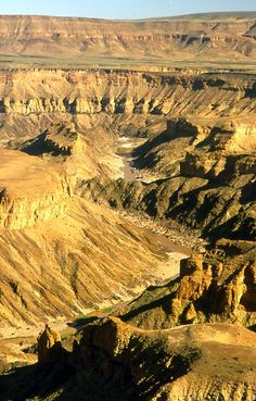 Fish River Canyon in Namibia Places To Travel, Places To See, Travel Destinations, Liberia, Zimbabwe, Sierra Leone, Congo, Seychelles, Desert Places