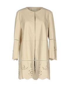 VIOLANTI Women's Overcoat Beige 10 US