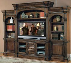 Genoa 5 Piece Entertainment Center Wall Unit by Parker House at Gill Brothers Furniture Tv Cabinets With Doors, Tv Wall Cabinets, Media Cabinets, Cabinet Doors, Kitchen Cabinets, Entertainment Center Furniture, Built In Entertainment Center, Parker House, Wall Mount Tv Stand
