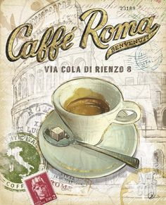 Caffe Roma Art Print by Chad Barrett at Art.com