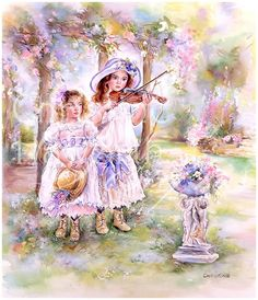 Paintbox Poppets : Midsummer Melody © Copyright Christine Haworth Designs