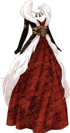 Love Nikki Red Witch - Nikki's Info - Love Nikki Red Witch – Nikki's Info - Anime Outfits, Mode Outfits, Fashion Outfits, Fashion Design Drawings, Fashion Sketches, Drawing Fashion, Witch Dress, Fantasy Gowns, Anime Dress