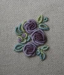 Resultado de imagem para bullion stitch embroidery from roses to wildflowers
