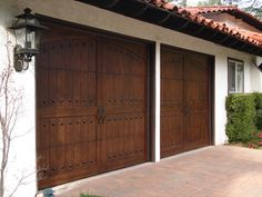 Spanish garage doors