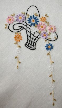 Aunt Clara's tablecloth closeup h by love to sew, via Flickr