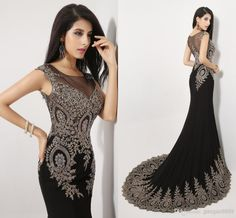 Cheap 2014 Evening Gowns - Discount Amazing New Sheer Neck Black Crystal Pageant Evening Online with $221.05/Piece | DHgate
