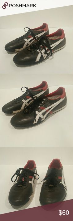ONITSUKA MONTREAL SNEAKER SIZE 10 Asics Mens  Black white red Guc Sneakers Montreal Limited edition Onitsuka Tiger Shoes Sneakers
