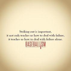 Failure is sometimes necessary for success Travel Baseball, Baseball Star, Baseball Season, Softball Quotes, Sport Quotes, Washington Nationals Baseball, Baseball Display, Fun Facts For Kids, Teamwork Quotes