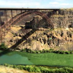 Perrine Bridge, Twin Falls, Idaho #basejumping Twin Falls, Base Jumping, Skydiving, Idaho, Twins, Bridge, Bridge Pattern, Bridges, Gemini