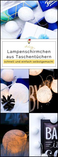 DIY Winter- & Weihnachtsdeko   Lichterkette mit Taschentuch-Lampenschirmen (Pappmache)   Filizity.com   DIY-Blog aus dem Rheinland #weihnachten #weihnachtsdeko #tempo