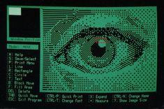 SCS-Draw Screenshot Computer Graphics for Print] Retro Arcade Machine, Computer Love, Retro Typewriter, Ascii Art, Sci Fi Books, Retro Futurism, Online Images, Pixel Art, Photo Art