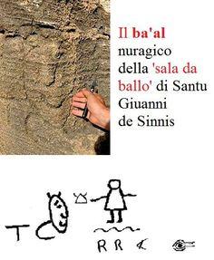 """Fig. 10 Una delle scritte nella cava di San Giovanni Sinis denominata """"Sala da Ballo""""."""