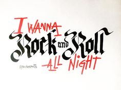 Rock and Roll all nite #kiss Dia Mundial do Rock