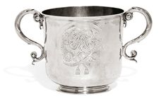 A William and Mary English provincial silver porringer, Gabriel Felling, Bruton, Somerset, circa 1690 Estimate — GBP LOT SOLD. History Of England, William And Mary, Art Auction, Somerset, Makers Mark, Modern Art, Initials, Earth, Fire