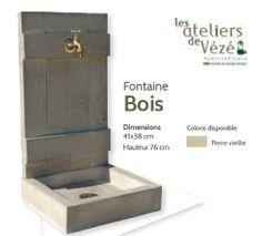 Fontaine bois ( pierre vieillie )