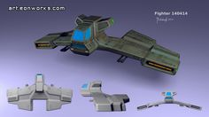 conceptual design of a scifi fighter #fighter #conceptart