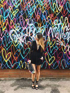 Top Ten Best Instagrammable Walls in Chicago, Heart Wall Art, Tom's Wicker Park