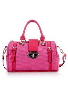 Sweet Rose Red Horizontal Shape PU Leather Woman's Tote Bag